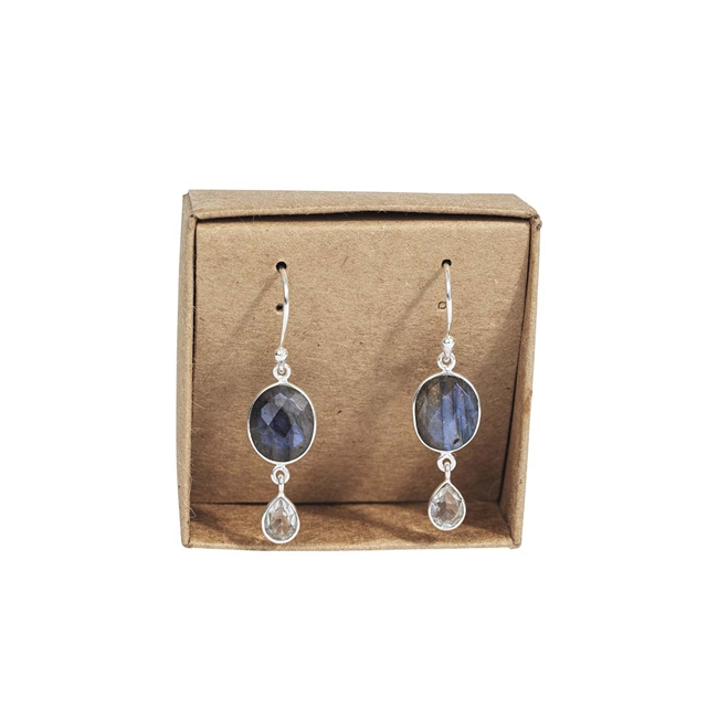 Picture of Earring Ruby, silverp/labradorite