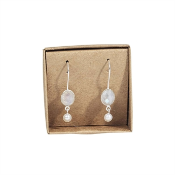 Picture of Earring Serenity, silverp/rainbow moonstone