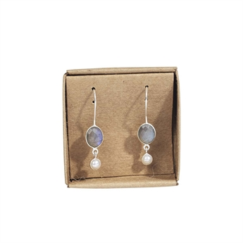Picture of Earring Serenity, silverp/labradorite