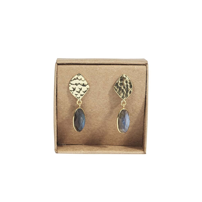 Picture of Earring Arianna, goldp/labradorite