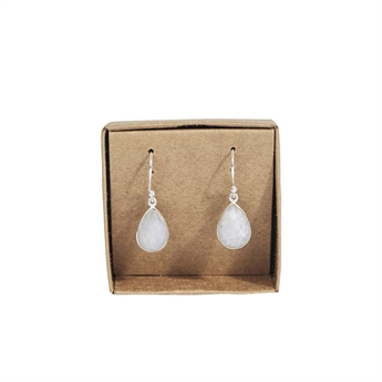 Picture of Earring Quinn, silverp/rainbow moonstone