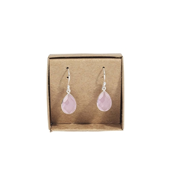 Picture of Earring Quinn, silverp/rose chalcedony