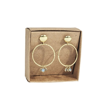 Picture of Earring Gianna, goldp/labradorite