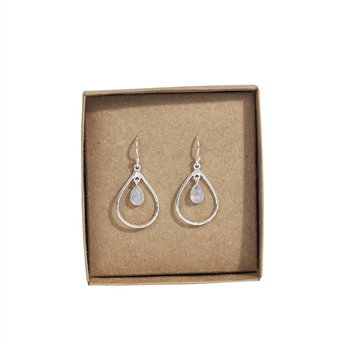 Picture of Earring Piper, silverp/rainbow moonstone