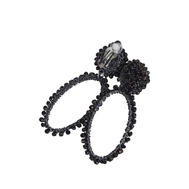 Picture of Earring (clip) Lolla, black