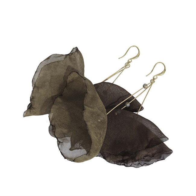 Picture of Earring Serena, olive/beige