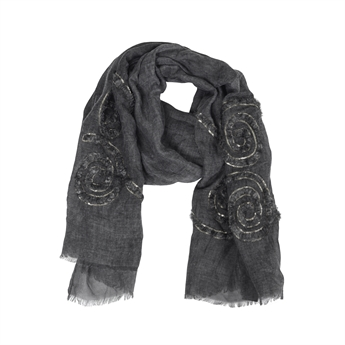 Picture of Scarf Lilly, dk grey