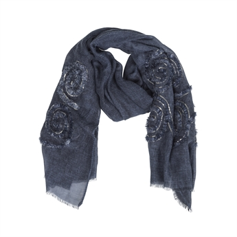 Picture of Scarf Lilly, dk blue
