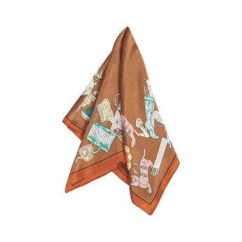 Picture of Mini scarf Audrey, beige mix