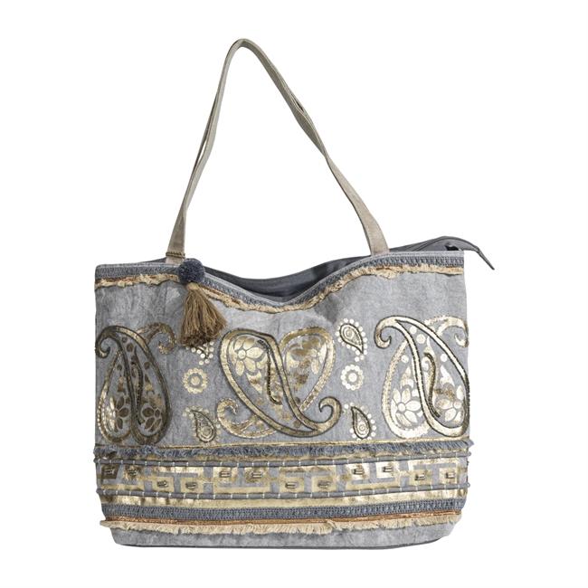 Picture of Shoulder bag Kimberley, grey/gold