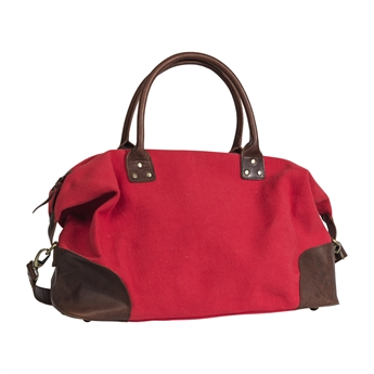 Picture of Weekend bag London, dk red