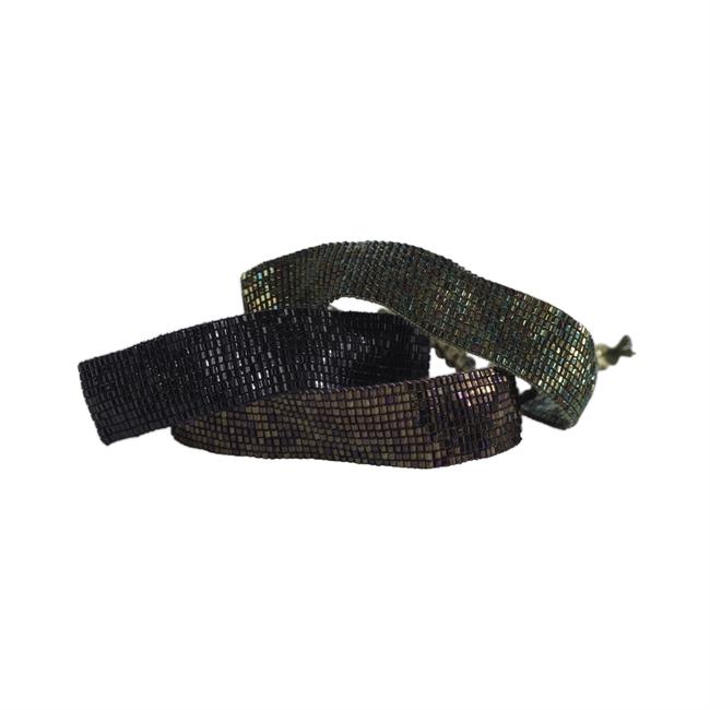 Picture of Bracelet Penny, black/brown/olive