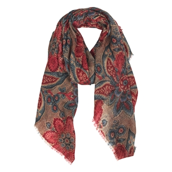 Picture of Scarf Daisy, beige mix