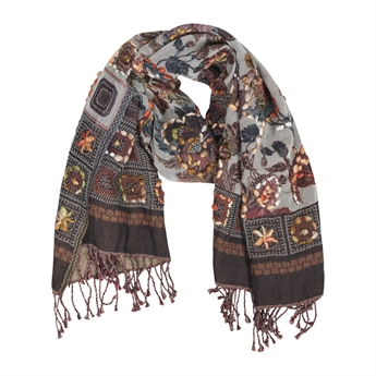 Picture of Scarf Fiona, grey mix