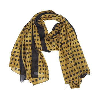 Picture of Scarf Stephanie, black/yellow