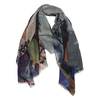 Picture of Scarf Anna, grey/blue