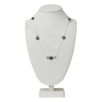 Picture of Necklace Julia, silver/gun metal