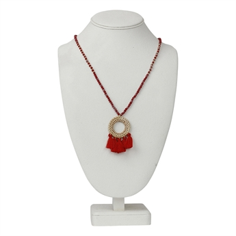Picture of Necklace Tuva, red