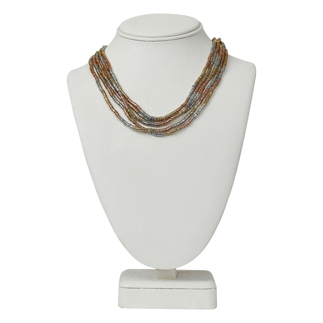 Picture of Necklace Rose, three tone