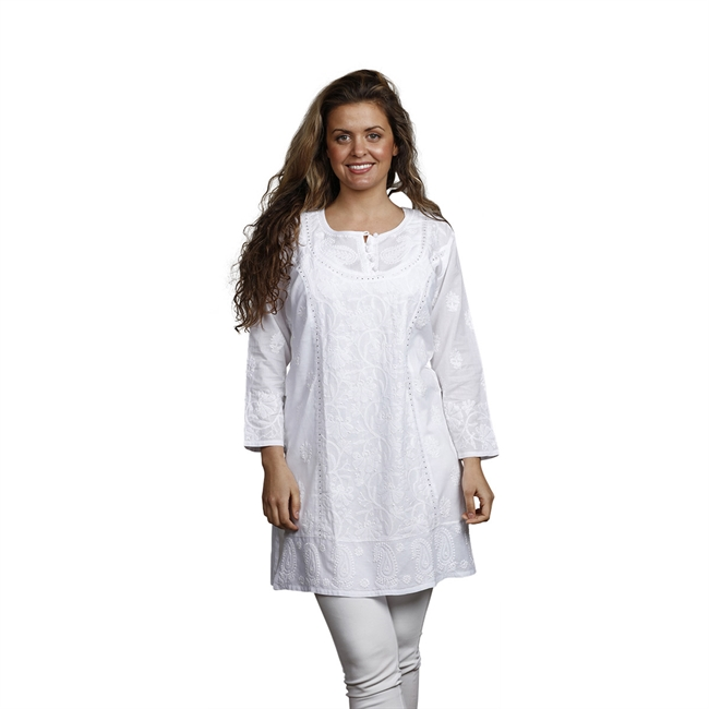 Picture of Tunic Sandra, size Small, white