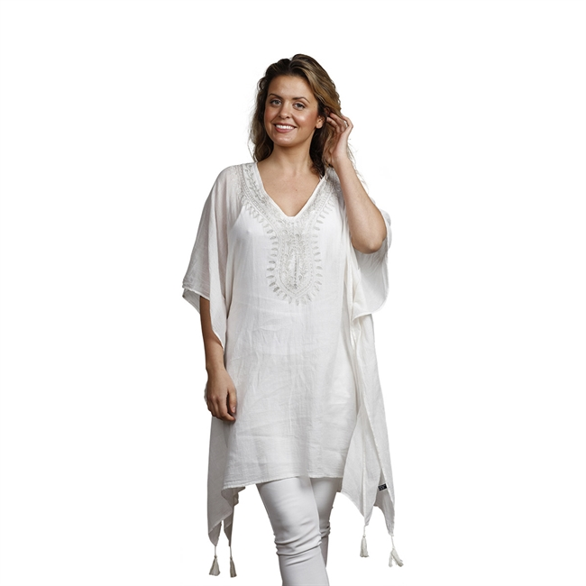 Picture of Kaftan Vilma, white