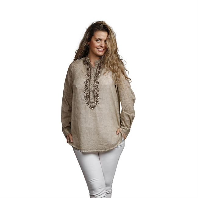 Picture of Tunic Anna, size small,  beige/gold