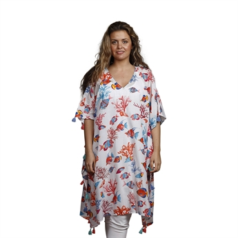 Picture of Kaftan Ven, white/mix