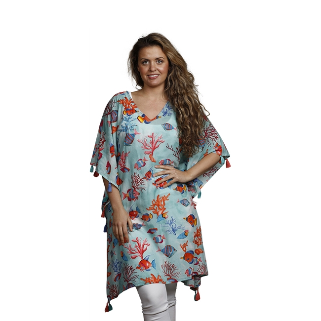 Picture of Kaftan Ven, turquoise/mix