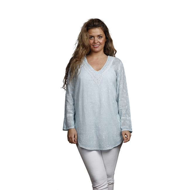 Picture of Tunic Nicole, size, Small, lt blue