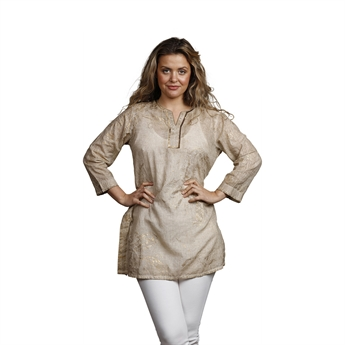 Picture of Tunic Eva, size Small, beige/gold