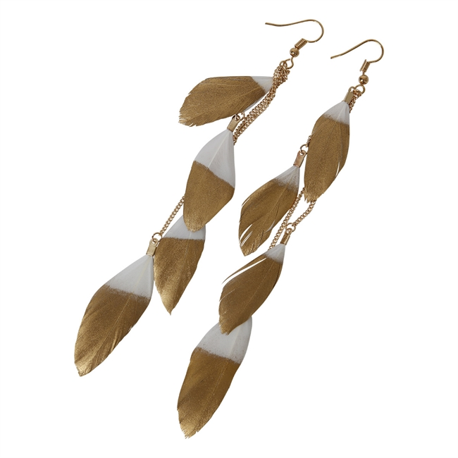 Picture of Earring Alex, white/gold
