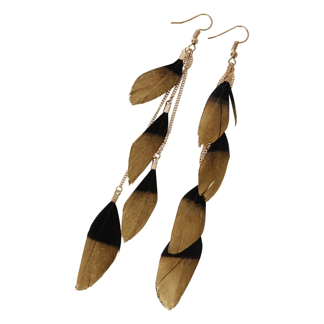 Picture of Earring Alex, black/gold