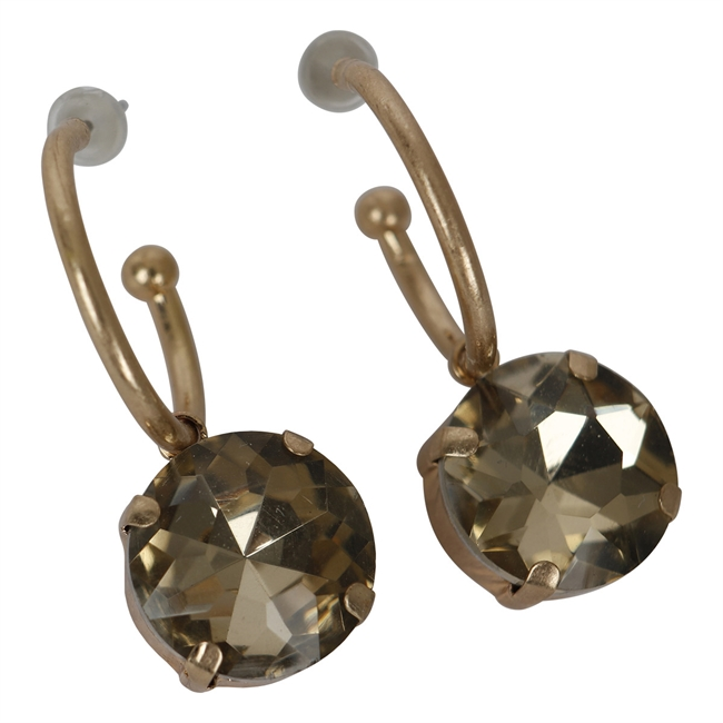 Picture of Earring Nora, beige/gold