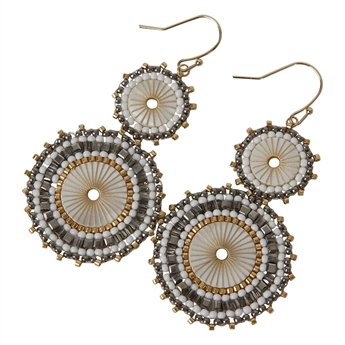 Picture of Earring Alicia, white/grey