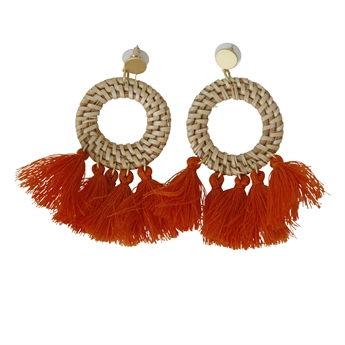 Picture of Earring Tuva, orange