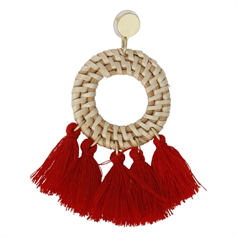 Picture of Earring Tuva, red.