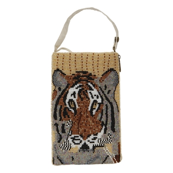 Picture of Mini clutch Tiger, ivory