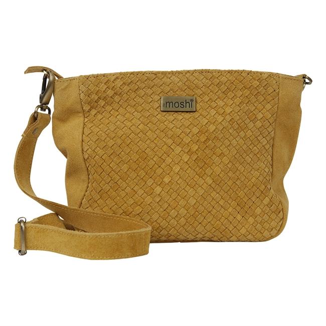Picture of Shoulder bag Jocelyn, mustard suede