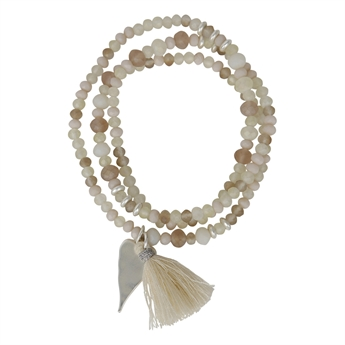 Picture of Bracelet/necklace Hanna, off white
