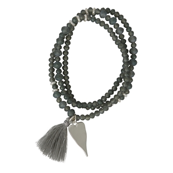 Picture of Bracelet/necklace Hanna, grey