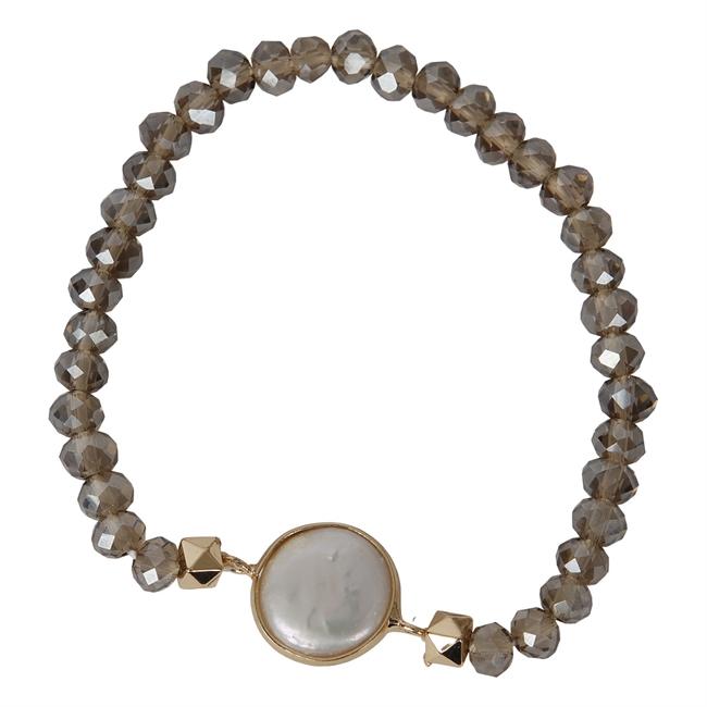 Picture of Bracelet Linnea, pearl/beige