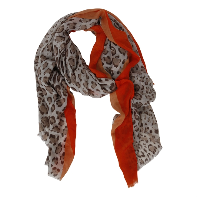 Picture of Scarf Selma, beige/orange