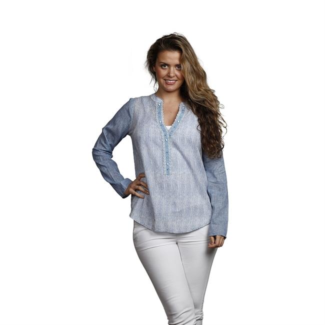 Picture of Tunic Johanna, size Medium 1235651, blue/white.