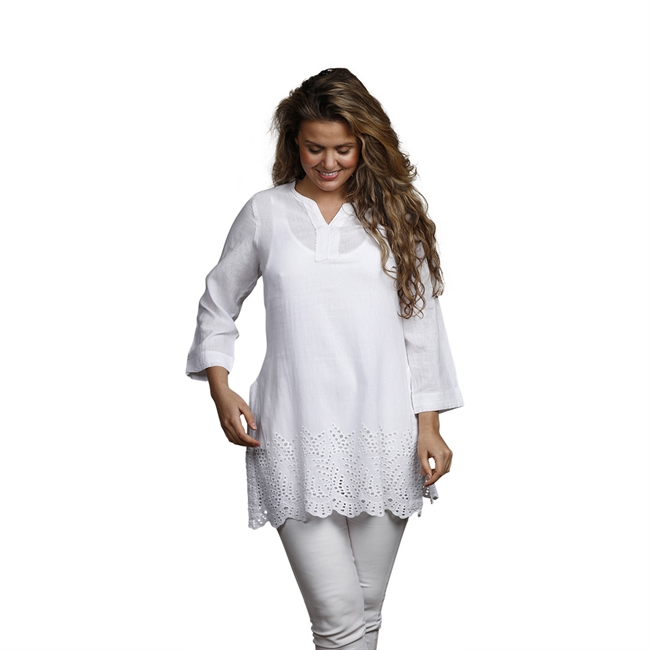 Picture of Tunic Sara, size Large 1236501, white