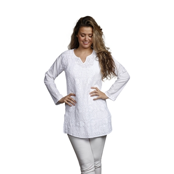 Picture of Tunic Tanja, size Medium 1230201, white