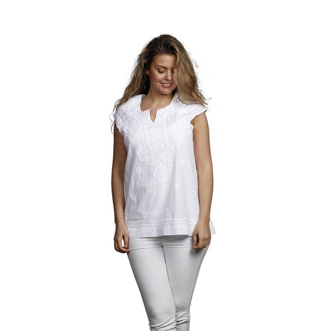 Picture of Tunic Charlotte, size Medium 1230601, white