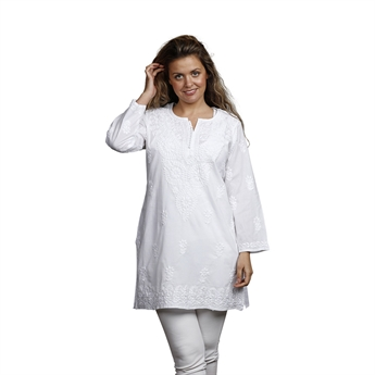 Picture of Tunic Louise, size Medium 1230801, white