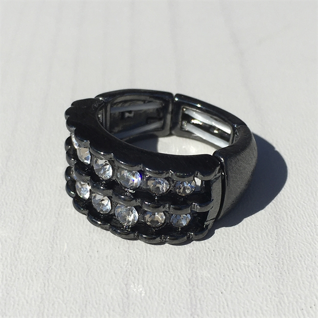 Picture of Ring Cissi, gun metal