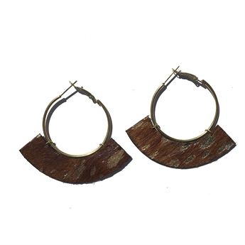 Picture of Earring Julia, brown/gold