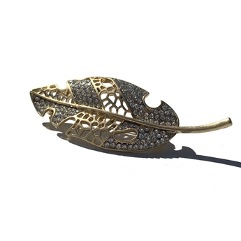 Picture of Brooch Leaf, gold